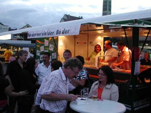 Stand des Förderverein der Bäder am Friedrichsthaler Stadtfest 2008