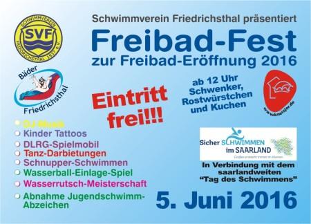 Flyer Freibadfest