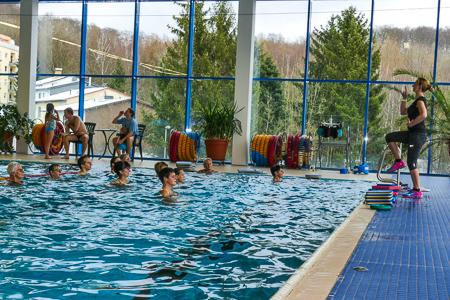 Aquajogging unter fachlicher Anleitung